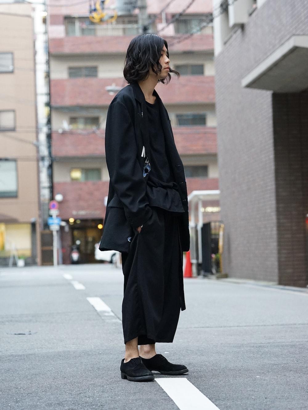 Yohji Yamamoto Deformation Collar Print Jacket  02