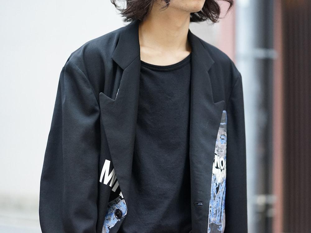 Yohji Yamamoto Deformation Collar Print Jacket  05
