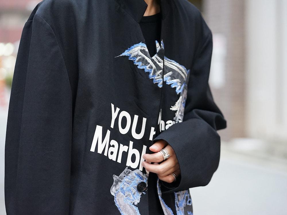 Yohji Yamamoto Deformation Collar Print Jacket  07