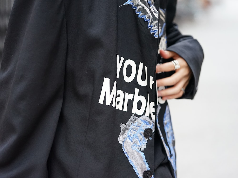 Yohji Yamamoto Deformation Collar Print Jacket  08