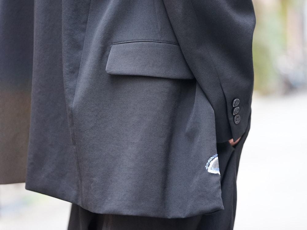 Yohji Yamamoto Deformation Collar Print Jacket  09