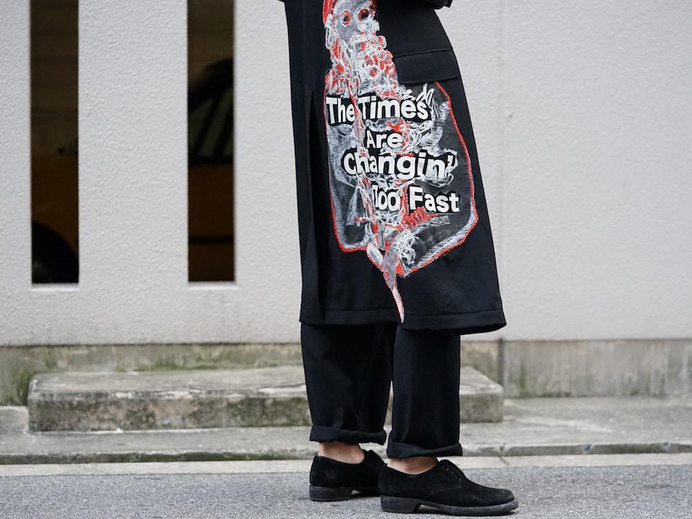 Yohji Yamamoto Print Embroidery Long Jacket 10