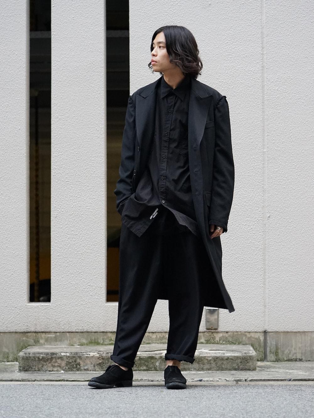 Yohji Yamamoto Print Embroidery Long Jacket  02