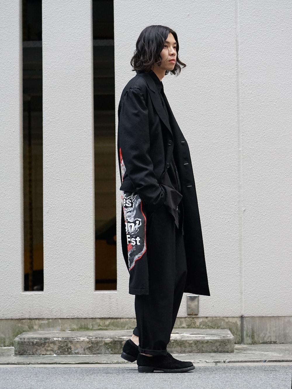 Yohji Yamamoto Print Embroidery Long Jacket 04