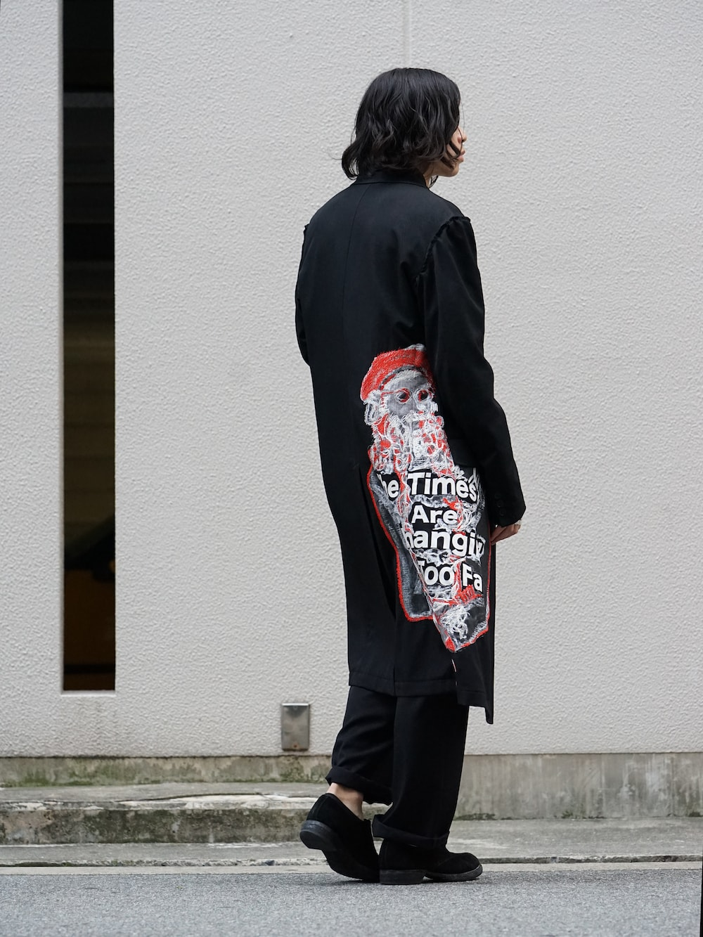 Yohji Yamamoto Print Embroidery Long Jacket  05