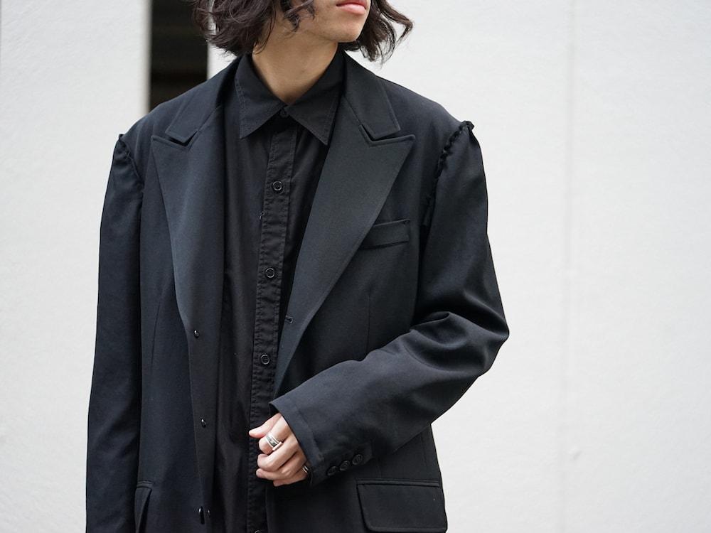Yohji Yamamoto Print Embroidery Long Jacket  06
