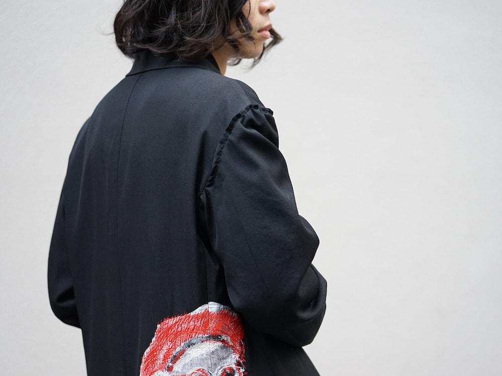 Yohji Yamamoto Print Embroidery Long Jacket  08