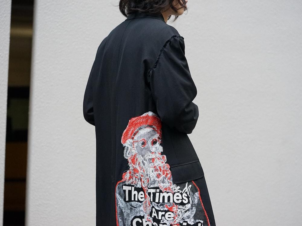 Yohji Yamamoto Print Embroidery Long Jacket 09