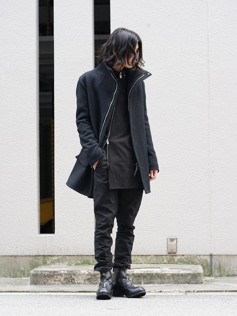 hannibal. Knitted Coat Filip Wool Slate Style  02
