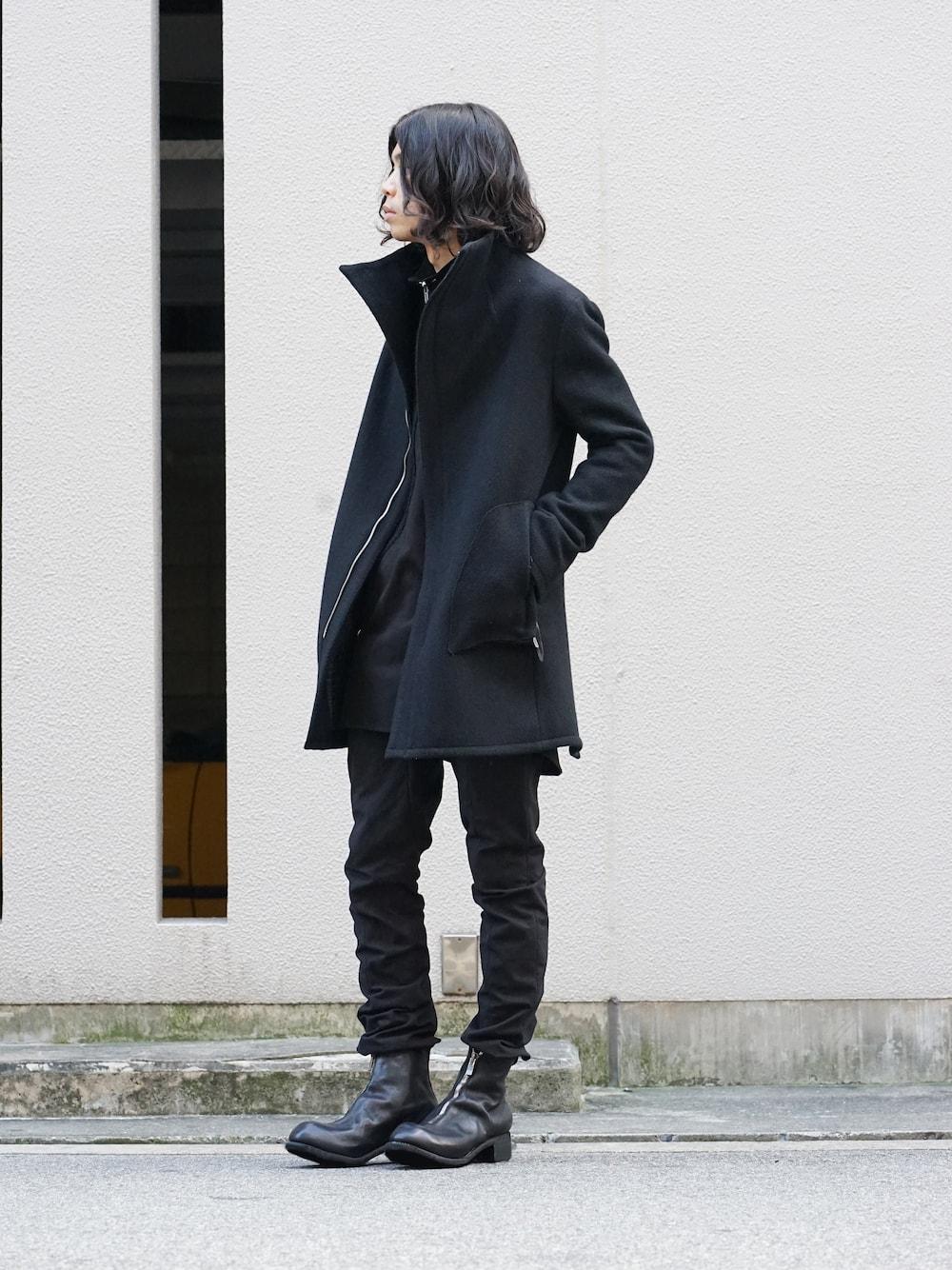 hannibal. Knitted Coat Filip Wool Slate Style  03