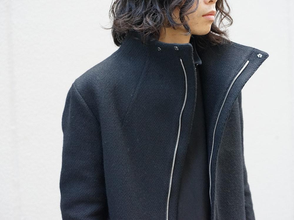 hannibal. Knitted Coat Filip Wool Slate Style 01