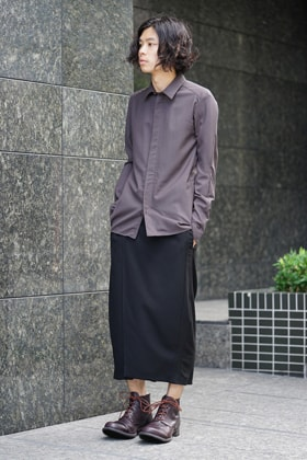 Devoa Wool shirt x Hakama pants Style