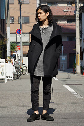 The Viridi-anne 17-18AW High Neck Coat  Coordinate