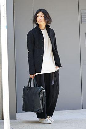 DEVOA 17-18aw Silk Linen Wool Stripe Style