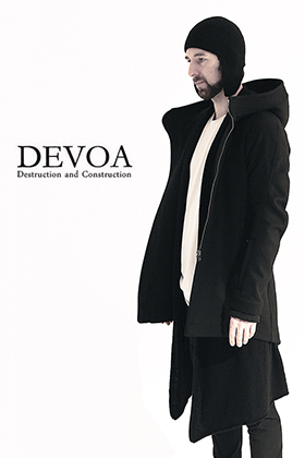 DEVOA 17-18AW Hooded Coat Cashmere Melton