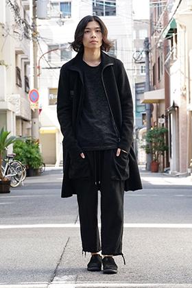 Yohji Yamamoto Print Embroidery Long Jacket