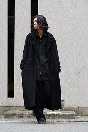 Yohji Yamamoto Plush Collar Pile Coat Style