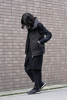The Viridi-anne  Cotton Nylon Down Vest Style