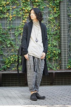 hannibal. Knitted Coat Filip Wool Slate Style