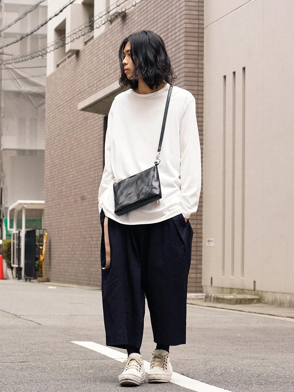 Yohji Yamamoto Side Tuck Pants Style 02