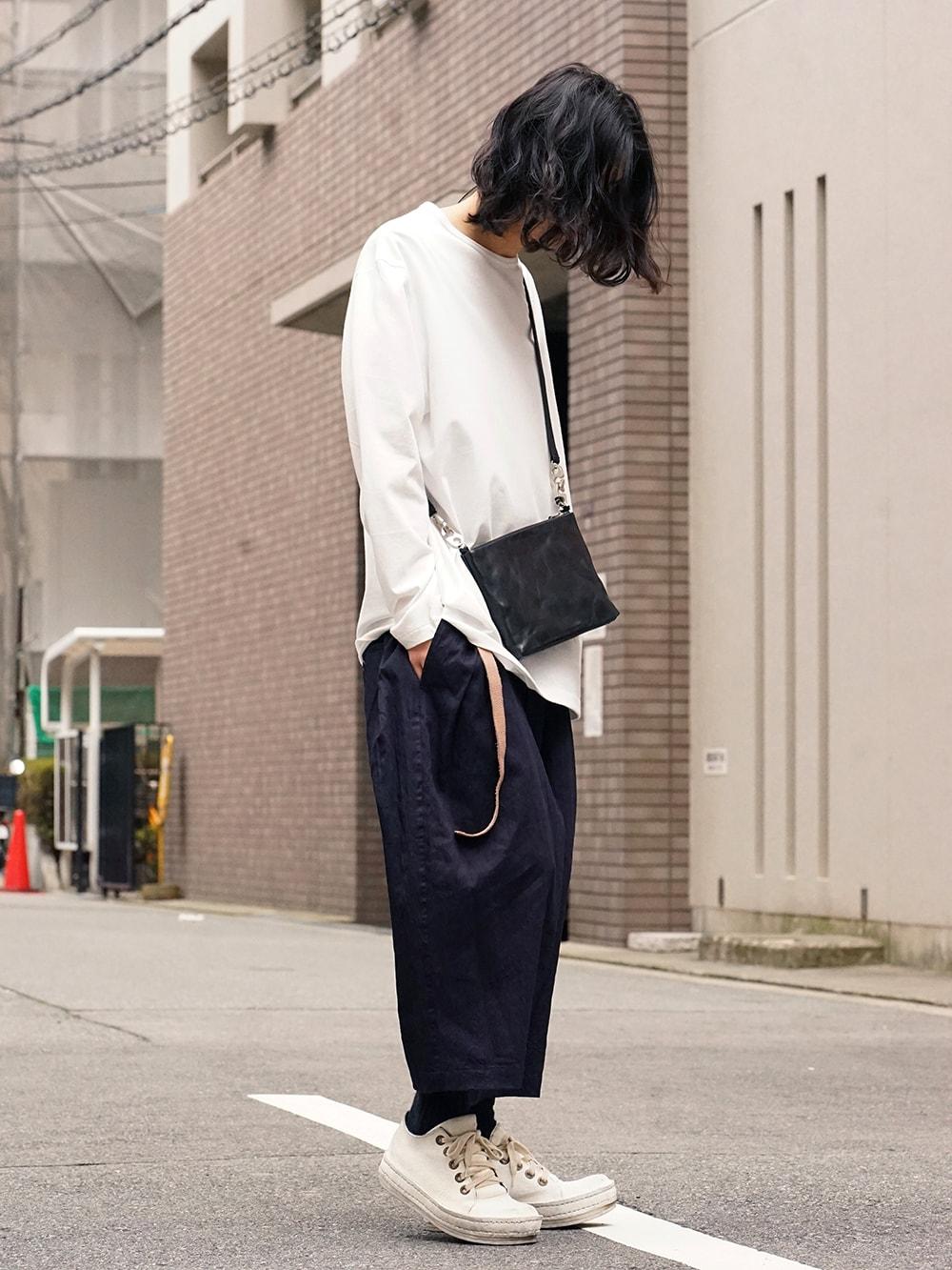 Yohji Yamamoto Side Tuck Pants Style 03
