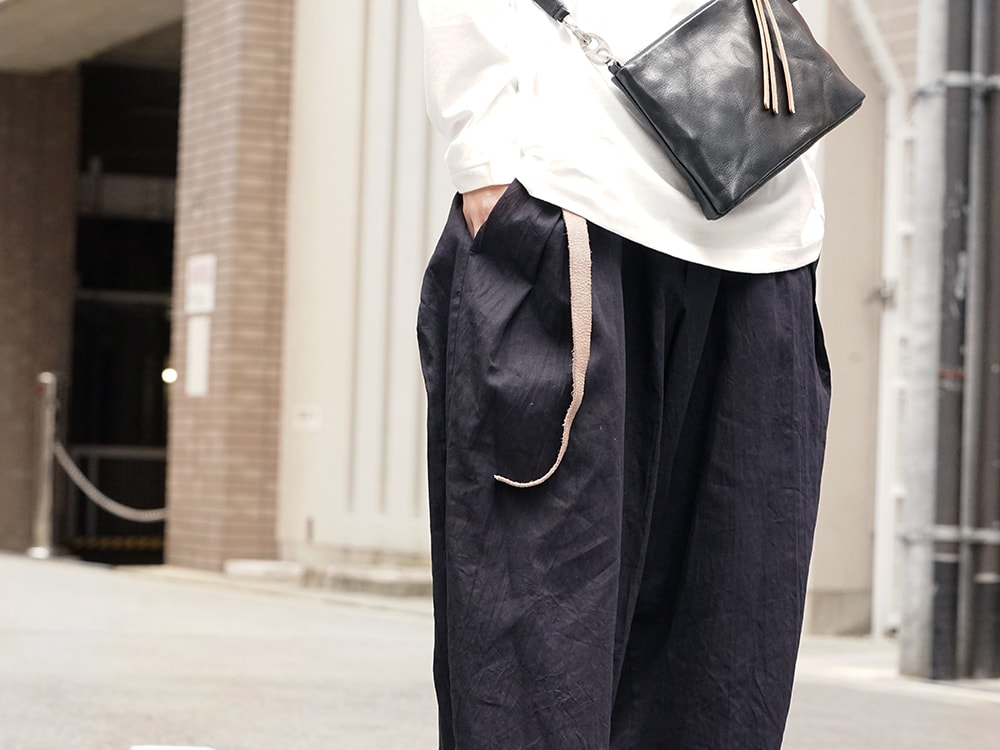 Yohji Yamamoto Side Tuck Pants Style 06