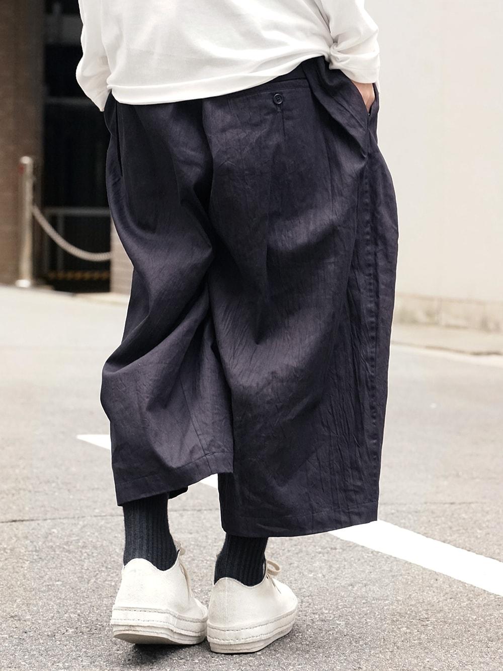 Yohji Yamamoto Side Tuck Pants Style 08