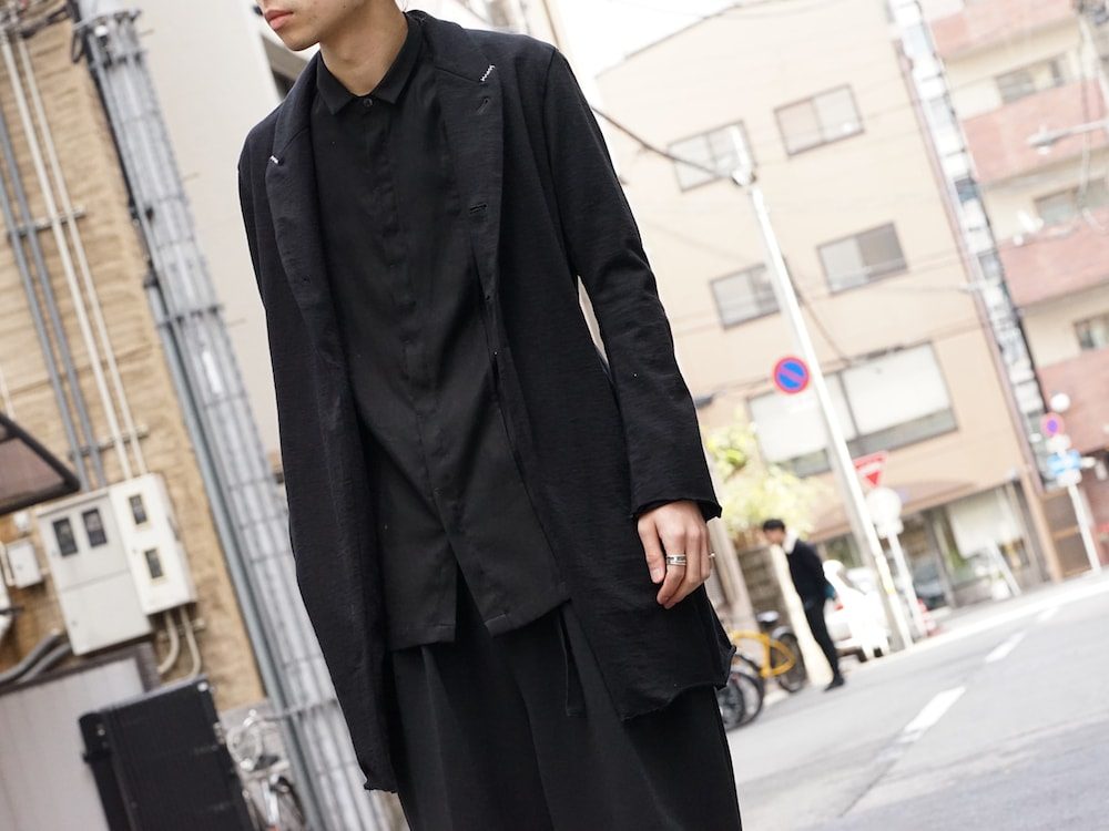 The Viridi-anne 18SS Hanging Inlay Long Jacket Style 04