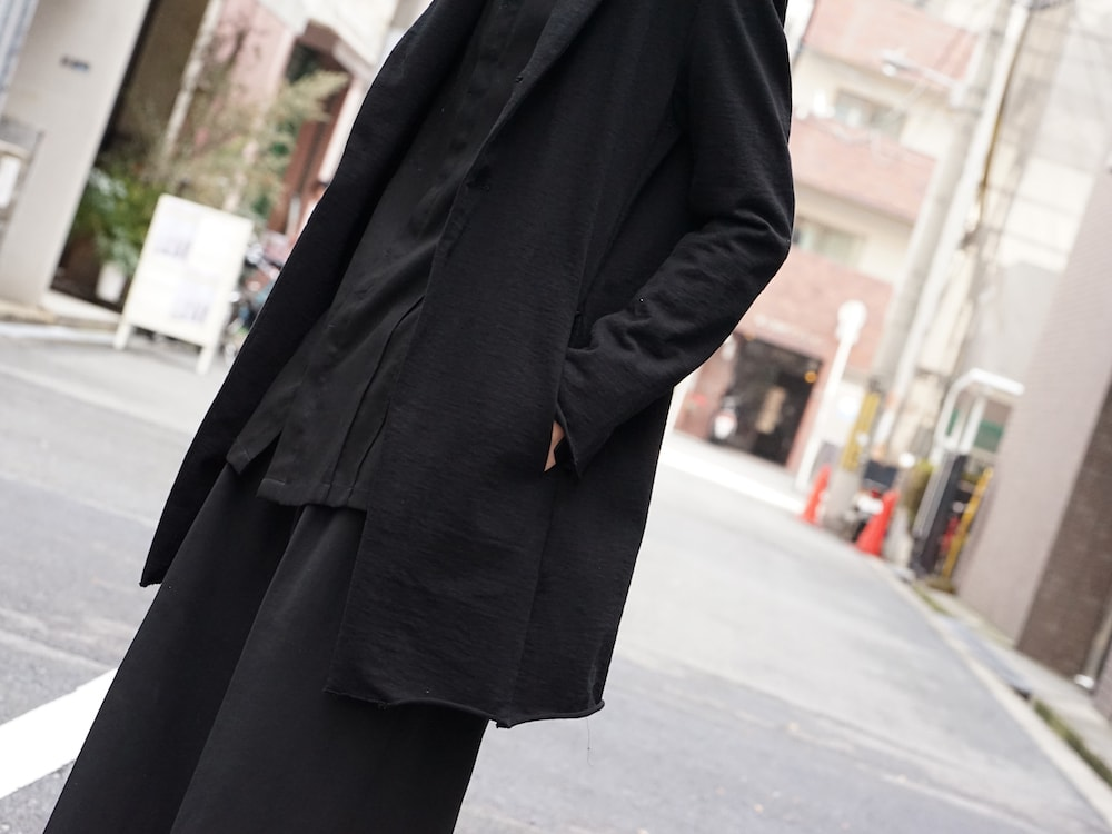 The Viridi-anne 18SS Hanging Inlay Long Jacket Style 07