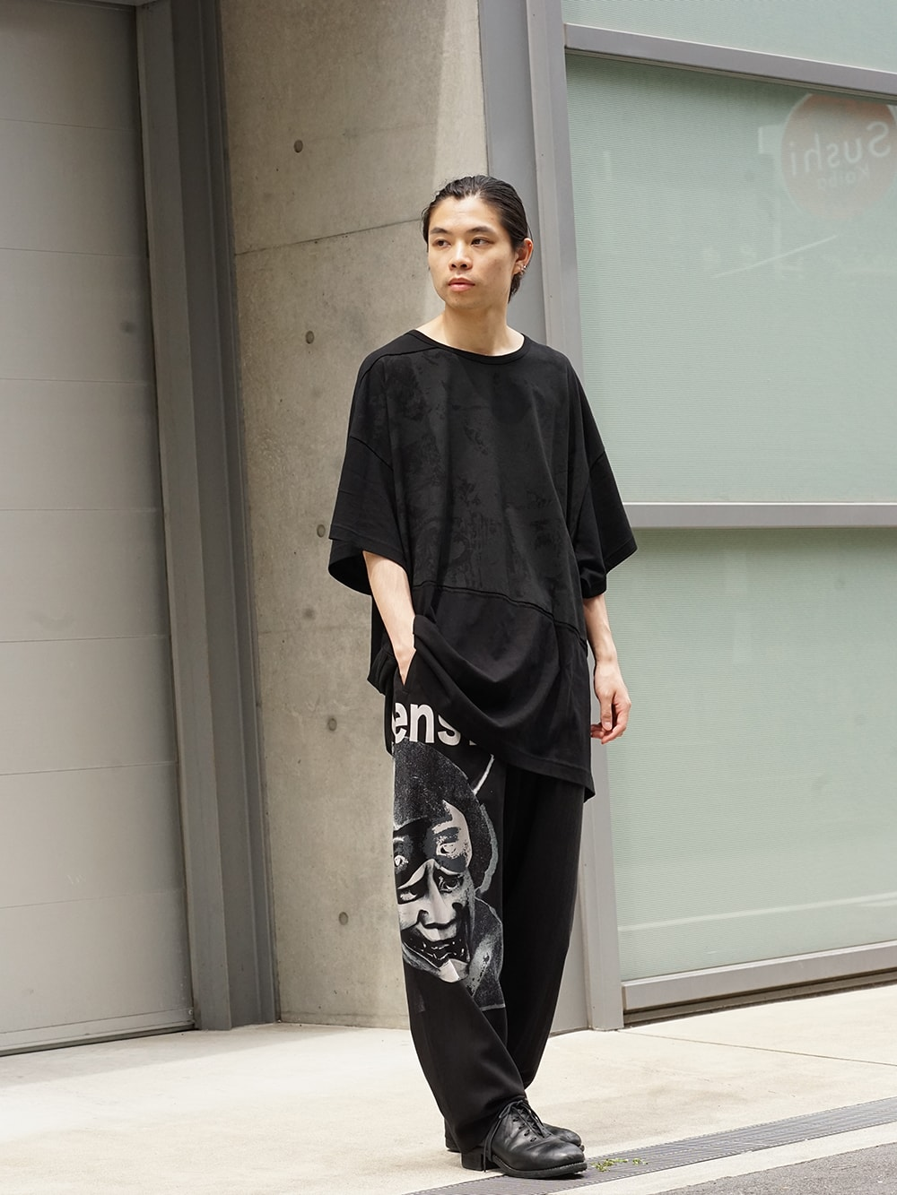 Yohji Yamamoto 18AW Black Scandal Draw String Pants 01