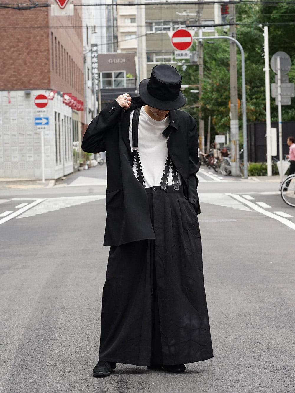 Yohji Yamamoto 18AW Suspender Pants Style 01
