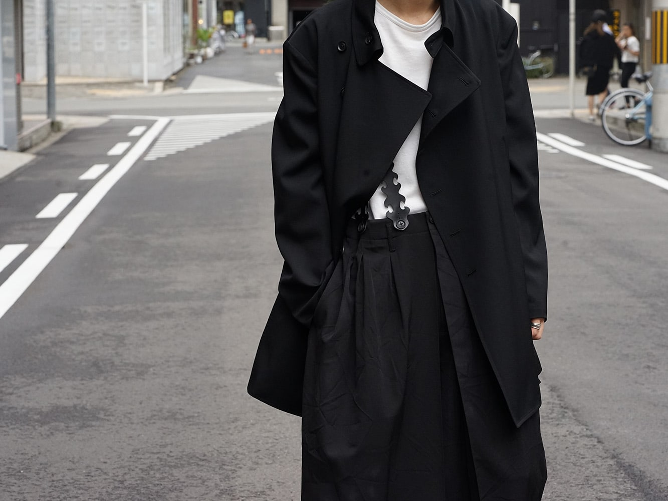 Yohji Yamamoto 18AW Suspender Pants Style 02