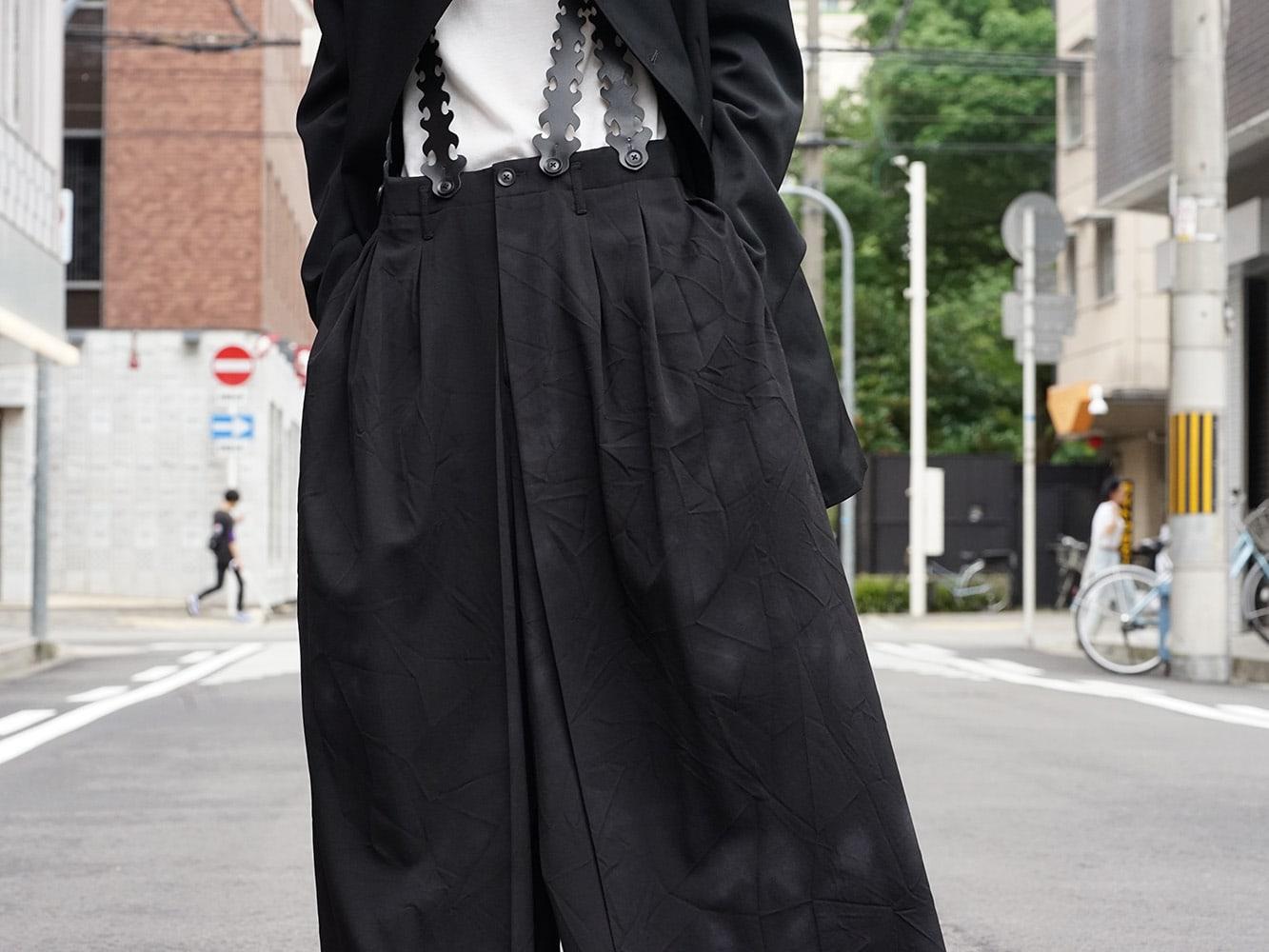 Yohji Yamamoto 18AW Suspender Pants Style 07
