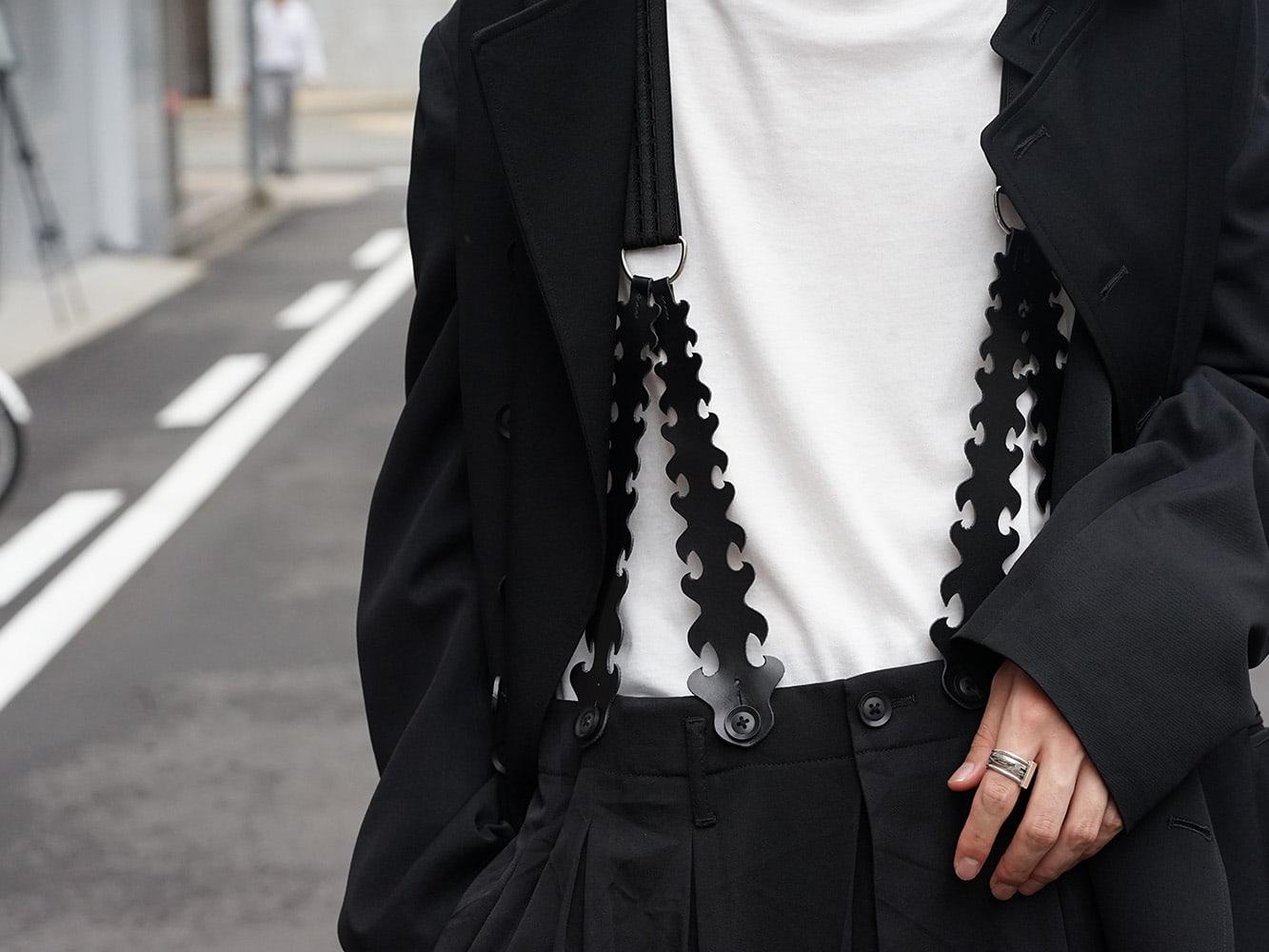 Yohji Yamamoto 18AW Suspender Pants Style 04