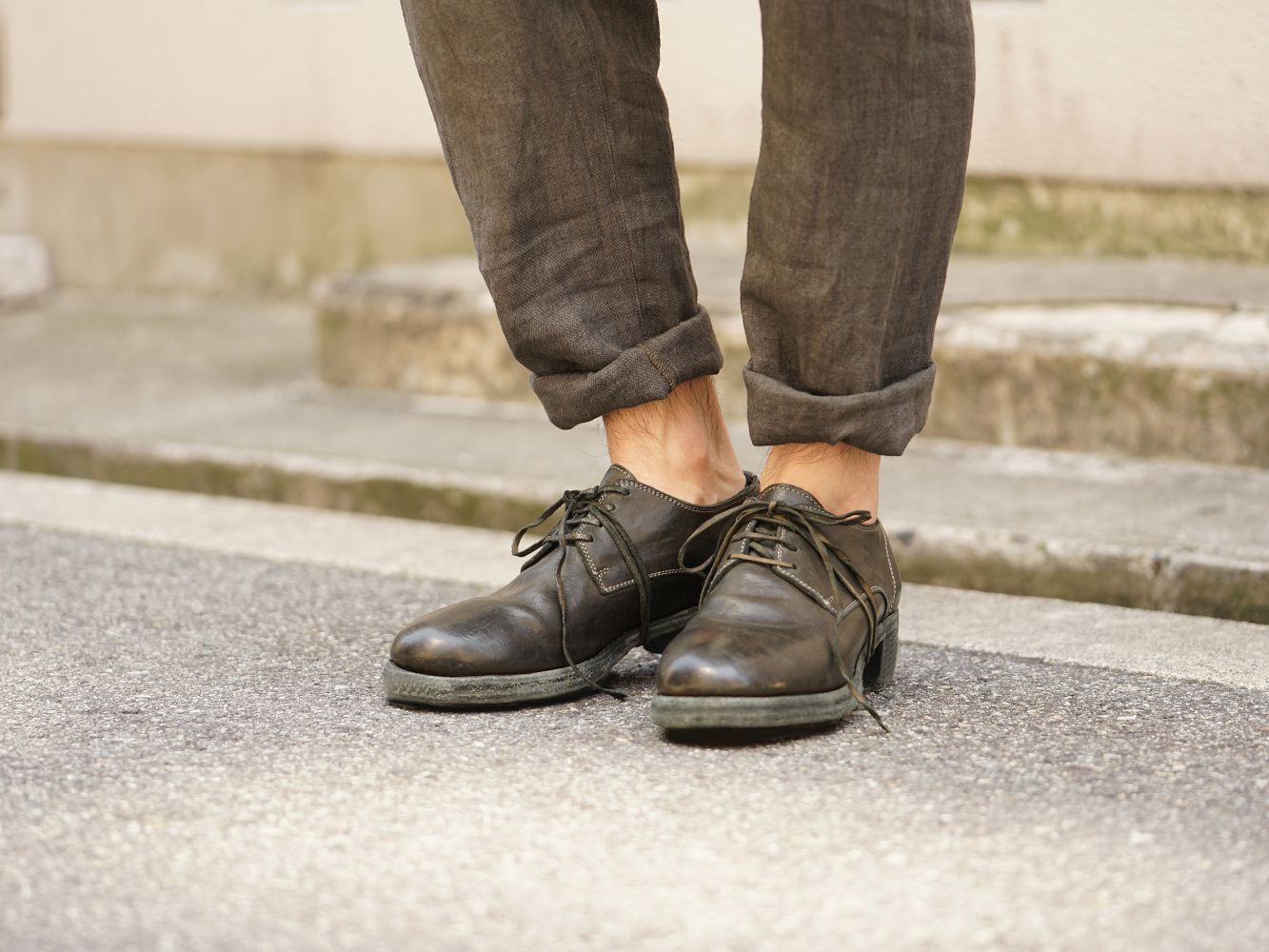 GUIDI 18SS Derby Shoes Collection 05