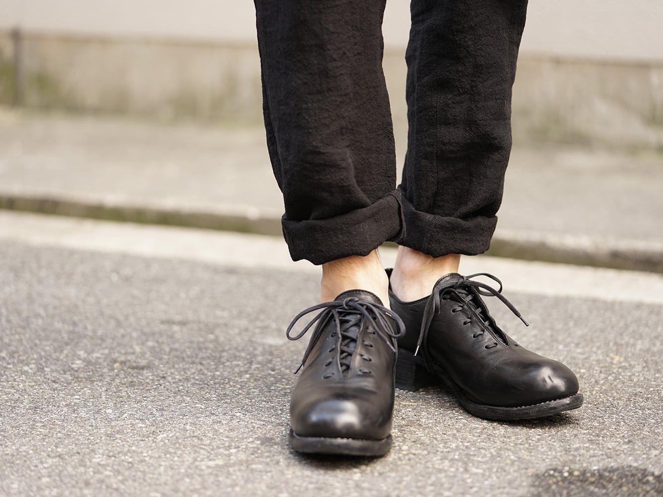 GUIDI 18SS Derby Shoes Collection 01
