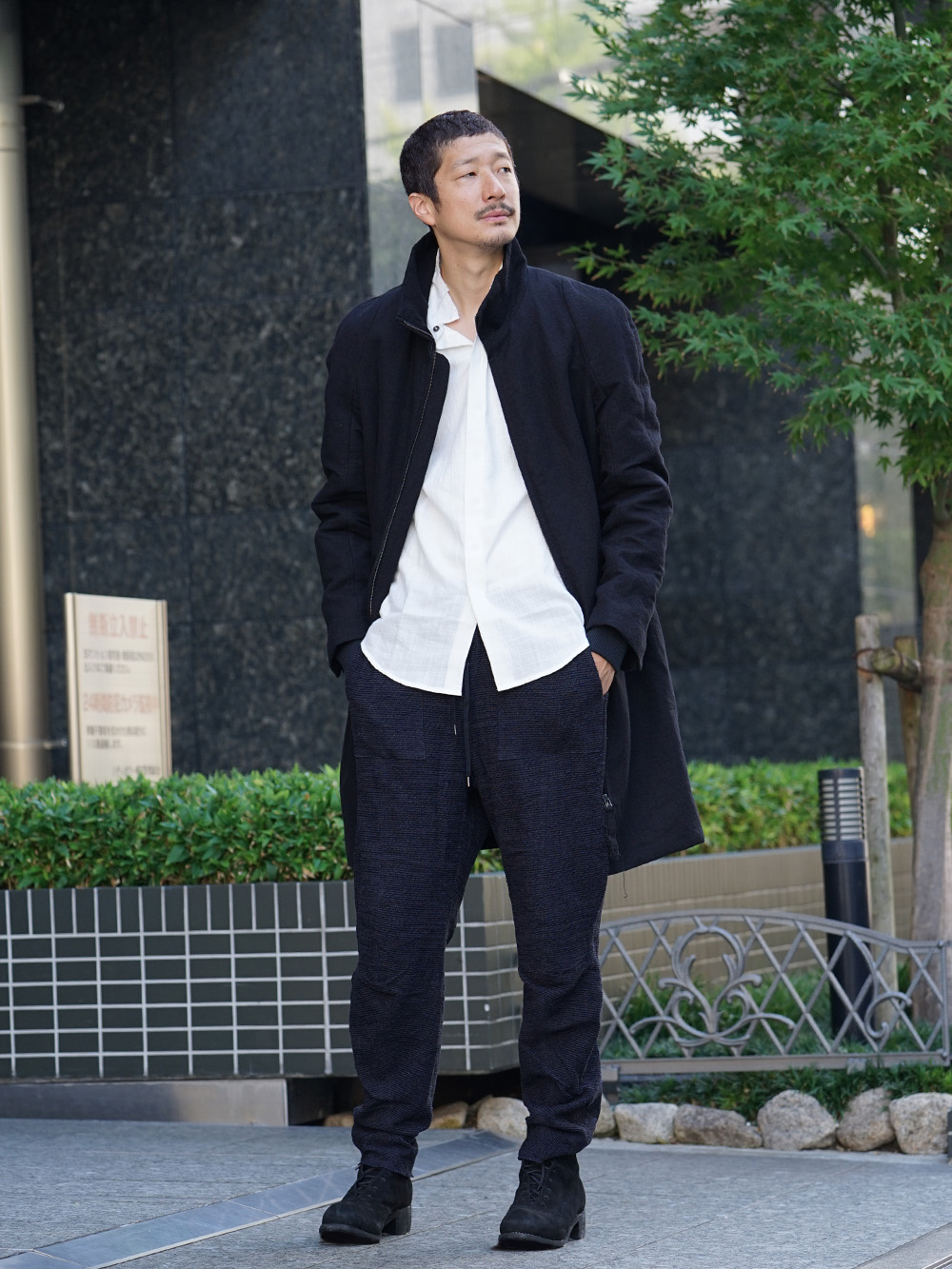 individual sentiments 18AW High Neck Coat Style 01