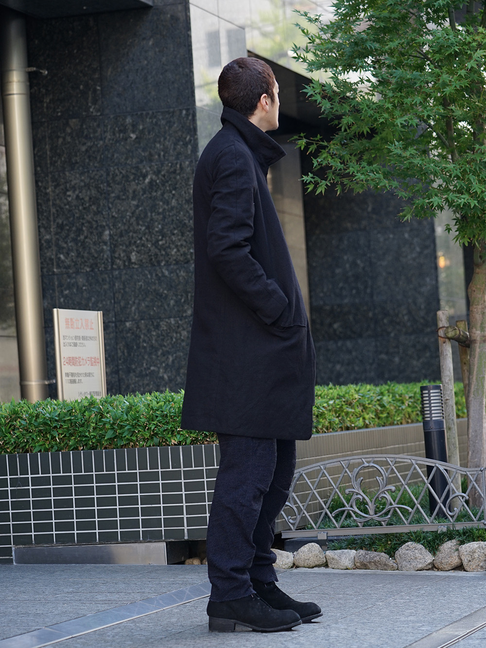 individual sentiments 18AW High Neck Coat Style 03