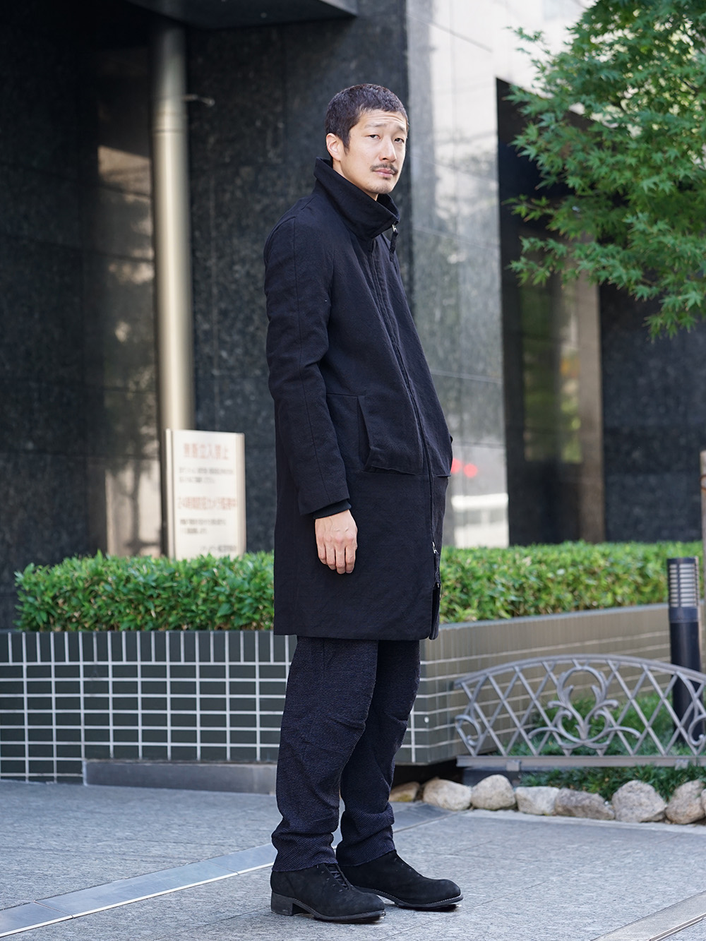 individual sentiments 18AW High Neck Coat Style 05