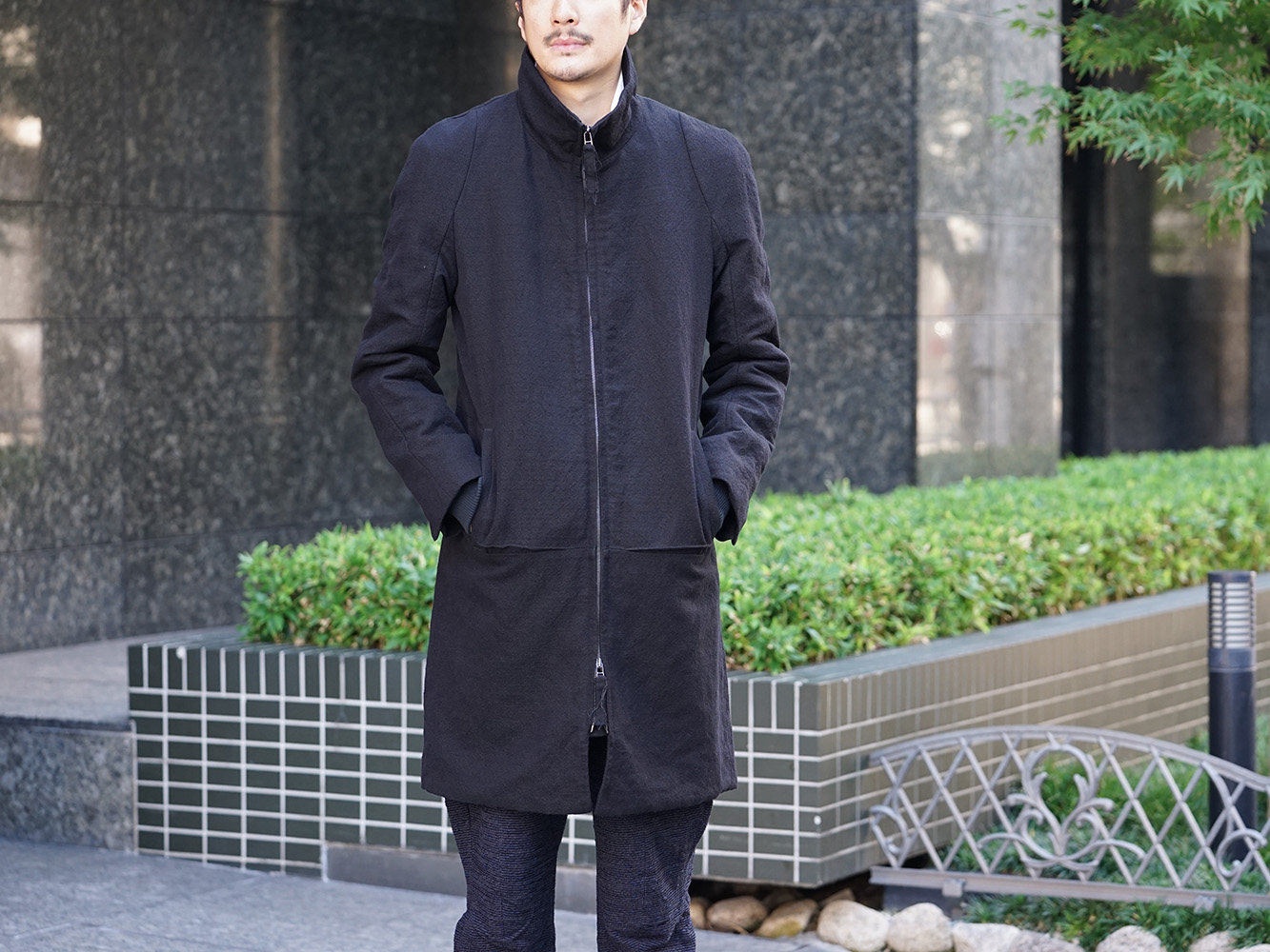 individual sentiments 18AW High Neck Coat Style 06