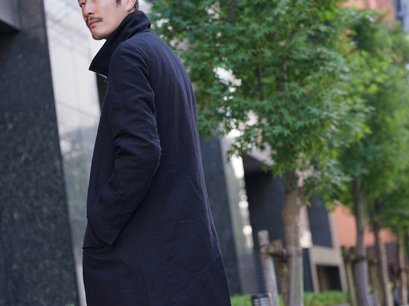 individual sentiments 18AW High Neck Coat Style 07