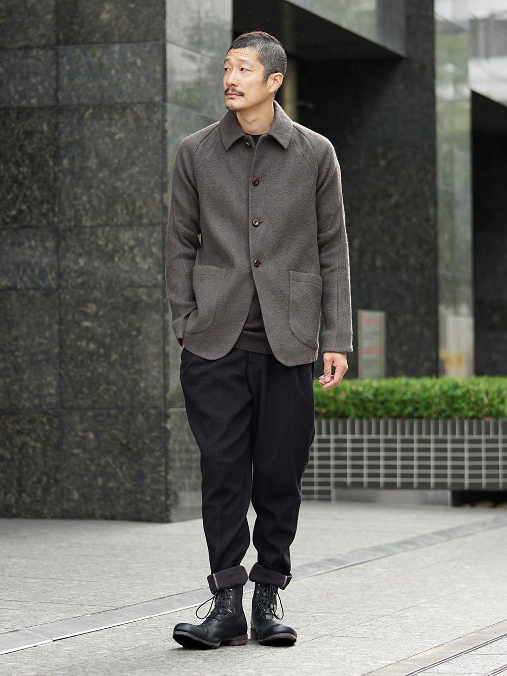 DEVOA 18-19AW Camel / Linen Coat & Jacket style FW18-19-001