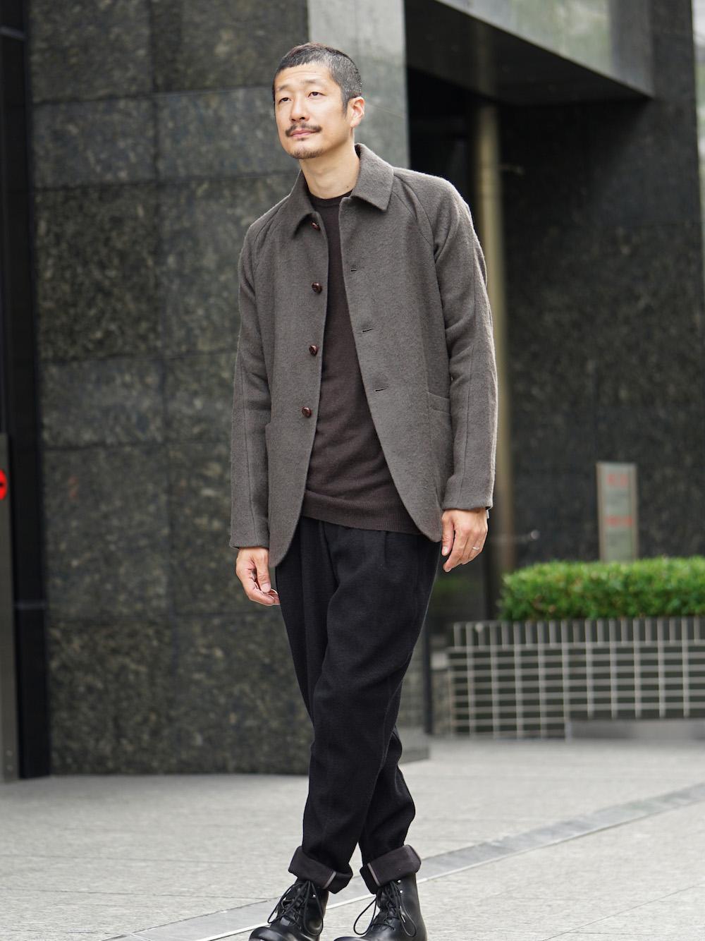 DEVOA 18-19AW Camel / Linen Coat & Jacket style FW18-19-002