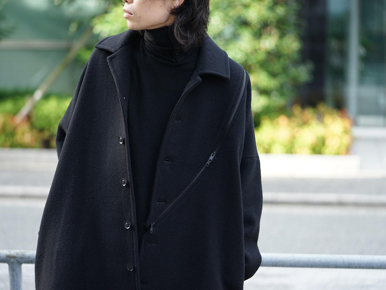 B Yohji Yamamoto Wool Viyella Bias Fastener Coat Style 06
