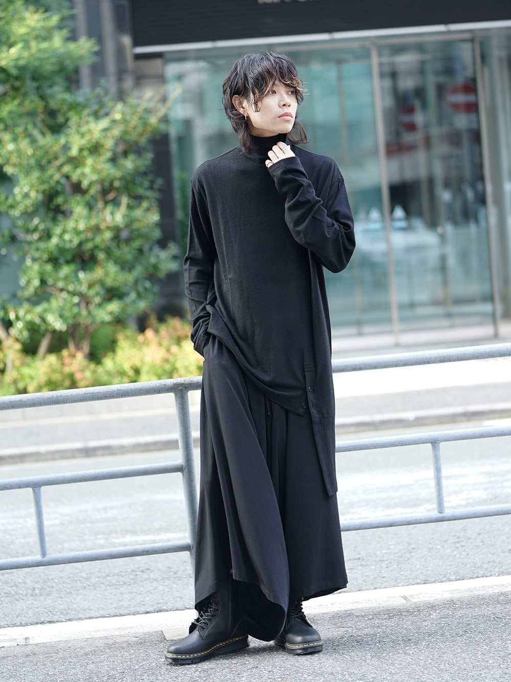 B Yohji Yamamoto Wool Viyella Bias Fastener Coat Style 08