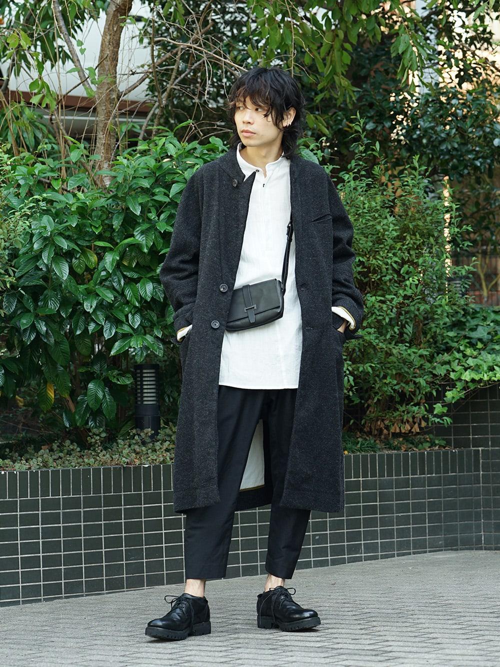 ZIGGY CHEN 18AW No Collar Coat Style 01