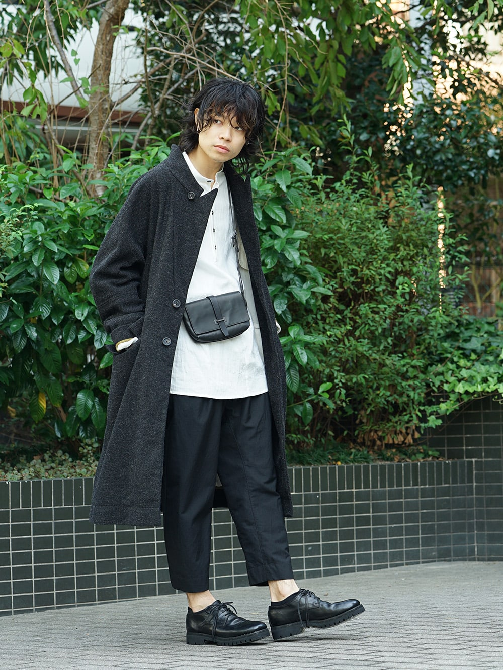 ZIGGY CHEN 18AW No Collar Coat Style 02