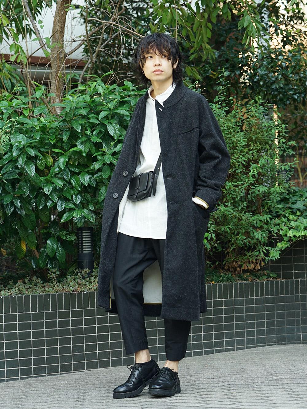 ZIGGY CHEN 18AW No Collar Coat Style 03