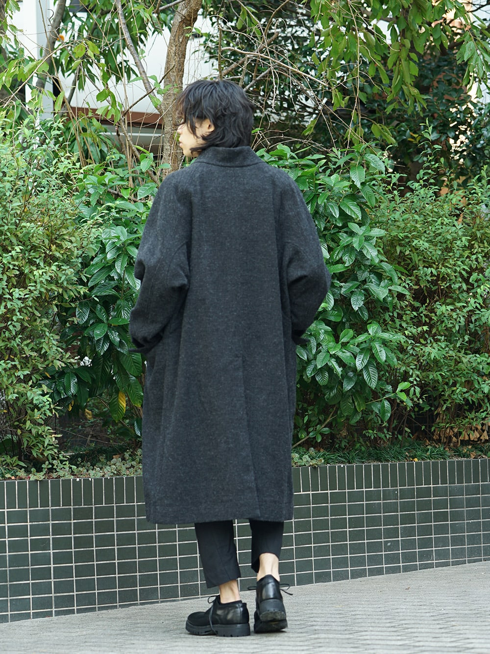 ZIGGY CHEN 18AW No Collar Coat Style 04