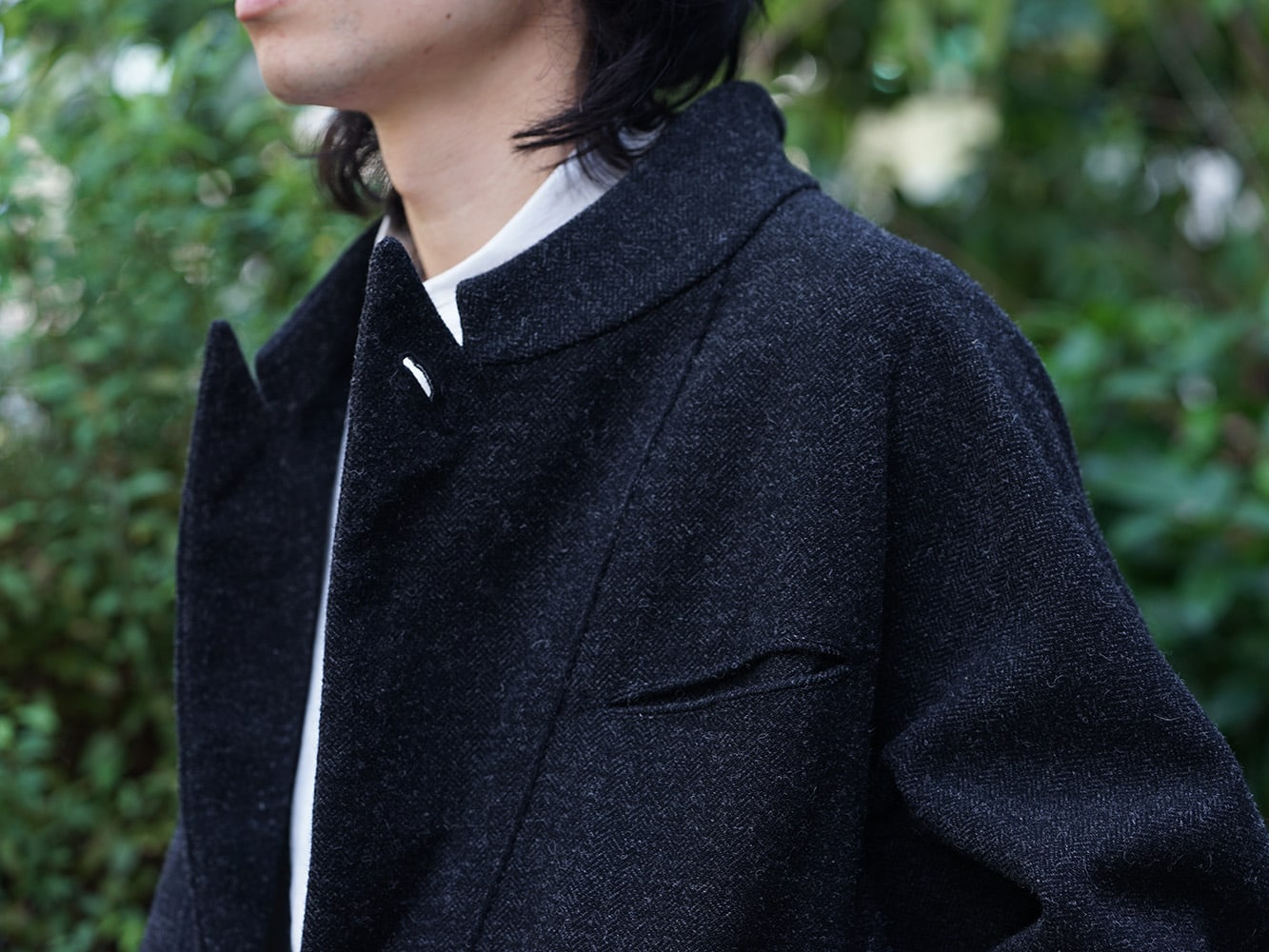 ZIGGY CHEN 18AW No Collar Coat Style 06